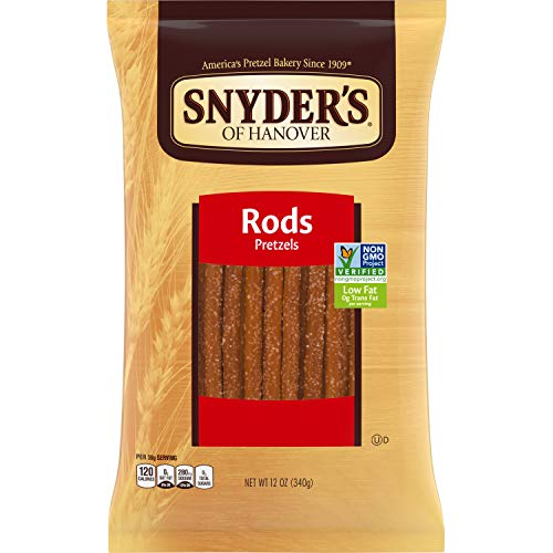 Snyder's of Hanover Pretzel Rods, 12 Ounce Bag (Pack of 12)