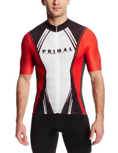 Primal Wear Men's Virex Helix Cycling Jersey, Red, Medium