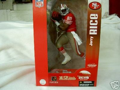 McFarlane Toys NFL Sports Picks 12 Inch Deluxe Action Figure Jerry Rice (San Francisco 49ers) Red Jersey Variant