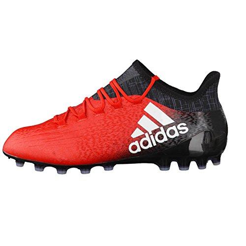 adidas X 16.1 Ag, Botas de Fútbol para Hombre RED/FTWWHT/CBLACK