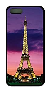 Night View Vintage Retro Paris Eiffel Tower Theme Cover Case For Iphone 5 5s TPU Material