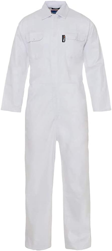 Pro-Work //Tough Gear Dungarees Women/'s Boilersuit Coverall Polycotton Overall Protective Safety Work Wear with Full Stud Closure /& Elasticated Waist Heavy Duty