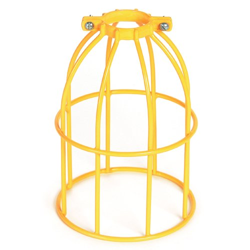Commercial Duty A23 Lamp Type Metal Wire Guard Vinyl Coated Woodhead  362V  Safety Yellow Stringlight Guard
