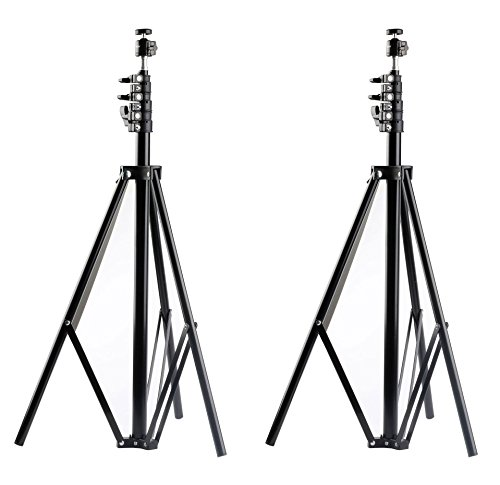 MDW 2 Pcs Adjustable Light Stands for HTC VIVE/VIVE Pro 102 inches/260centimeters with 1/4 Tripod Mini Ball Head for HTC ViVE Base Station, Photo and Video New Version ()