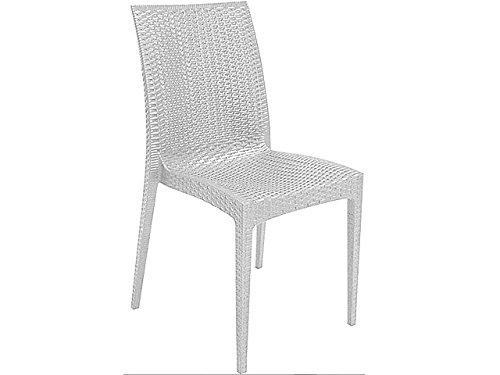 GRAND SOLEIL Grandsoleil Boheme Greenpol sedia impilabile, verde polimerico, bianco, 53.5x 49x 89cm Grandsoleil_S6380B