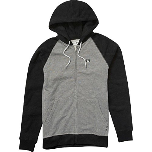 Billabong Black Sweatshirt (Billabong Men's Balance Zip Hoodies, Black Heather, M)
