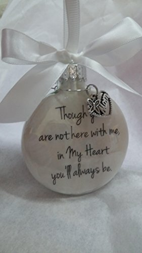 In Memory of Mom Memorial Christmas Ornament In My Heart You'll Always Be Mother Sympathy Gift