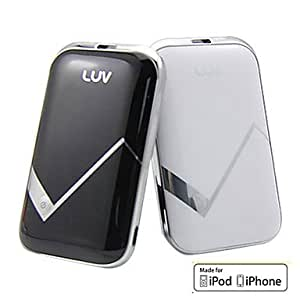 LUV PB04 Power Bank for iPhone, iPad and More (2100 mAh, MFi CE FCC RoHS Certificate) --- COLOR:White