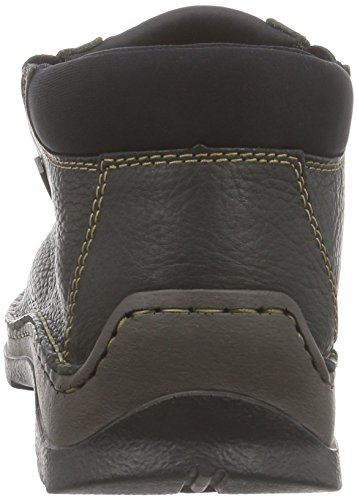 Rieker 05383 - botas de caño bajo de cuero hombre negro - Schwarz (schwarz/schwarz/schwarz / 00)