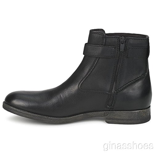 Clarks gobio Top Botas Casual Black Leather