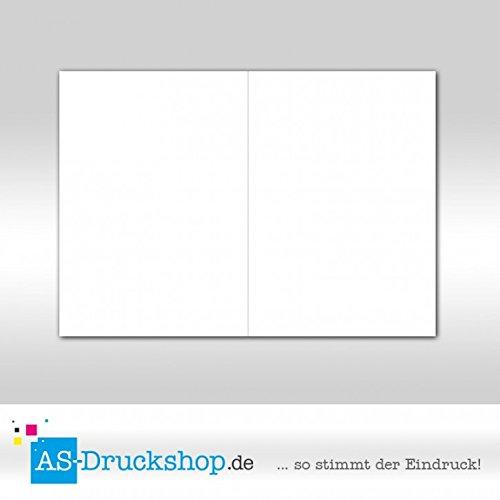 Faltkarte Doppelkarte - Weiss - Samt satiniert 100 Stück DIN DIN DIN B6 B0794ZJB57 | Verschiedene Arten und Stile  6733b8