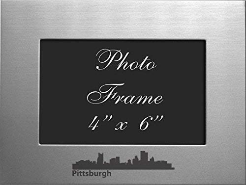 Pittsburgh, Pennsylvania-4x6 Brushed Metal Picture Frame-Silver