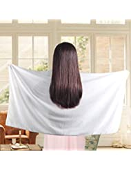 Absorbent Microfiber Hair Towel Wrap Turban Drying Bath Shower Head Towel For Curly/Long/ Thick Hair, Quick Magic Dryer, Wrapped Bath Towels By Duomishu (White)