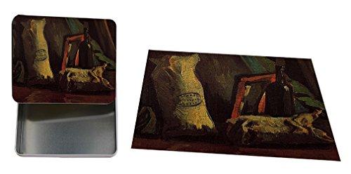 A Basket Of Crocuses (Van Gogh) Metal Tin Trinket Box (4