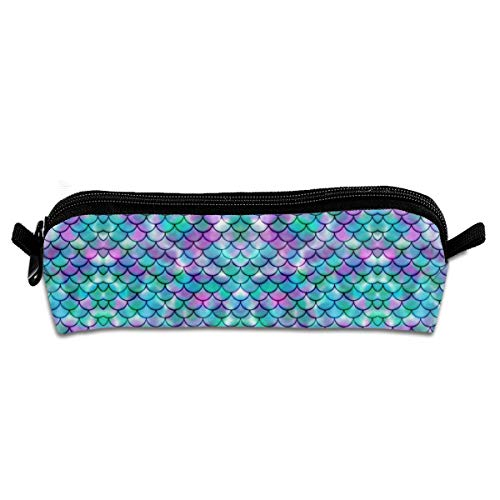 Stylish Pens Pencil Case Galactic Mermaid Tail Pencil Box Zipper Stationary Case Coin Purse Cosmetic Bag - One Pocket Office Supplies Back to School