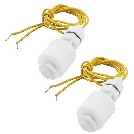 Interruptor de flotador de bola del acuario del sensor de nivel de líquido vertical de plástico 2 piezas: Amazon.es: Bricolaje y herramientas