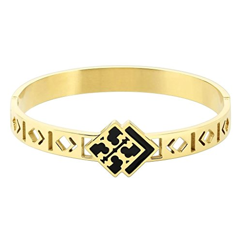 [Bishilin Womens Stainless Steel Square Carving Dog and Bone Hollow Gold Bracelet] (Solid Sterling Silver Square Braid)