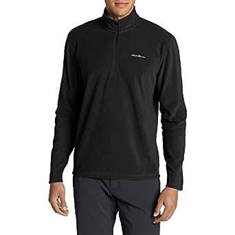Eddie Bauer Men's Quest Fleece 1/4-Zip Pullover, Black Regular S