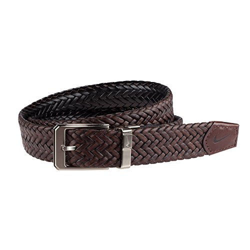 Nike Men's Braided Reversible Belt, Brown/Black, 42 (Leather Reversible Braided)