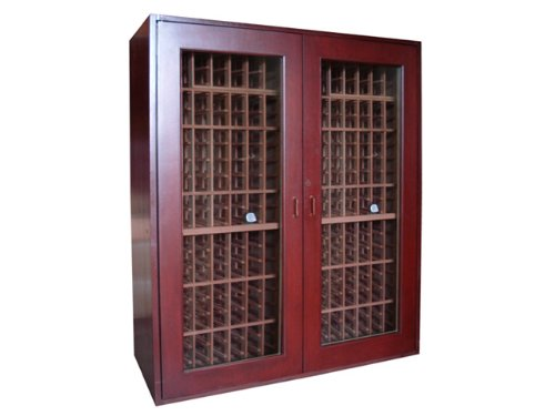 Sonoma 500-Model Cherry Wine Cabinet by Vinotemp - 500 Wine Cabinet