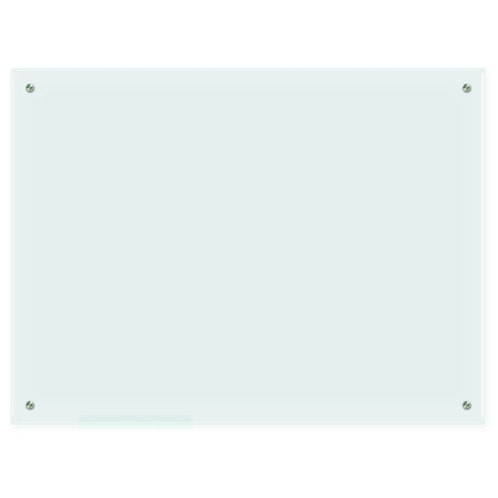 Lockways Glass Dry Erase Board – Glass Board, Whiteboard/White Board 48'' x 36'', Frosted Surface, Frameless, Clear Marker Tray, Wall-Mounted Whiteboard for Office, Home, School