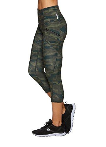 RBX Active Women's Camo Camo Printed Capri Yoga Leggings Green S