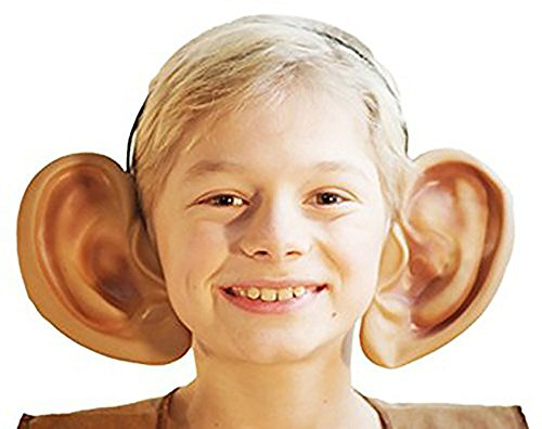World Book Day-School Plays-Roald Dahl Day-Character-Friendly Giant BIG EARS ON HEADBAND One Size (Adult Book Character Costumes)