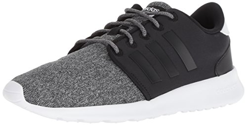 adidas Women's CF QT Racer Running Shoe, Black, 7 M US