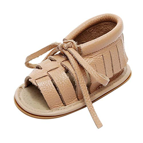 - NEEKEY Boys And Girls Fashion Tassels Straps Open Toe Solid Leather Toddler Shoes Non-Slip Sandals Slippers Beach