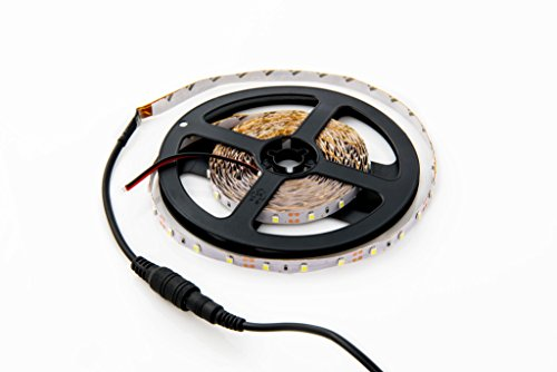 HitLights Warm White LED Light Strip, 3528 - 16.4 Feet, 300 LEDs, 3000K, 72 Lumens per Foot. 12V DC - Accent 12v Accent
