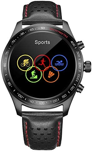 Smart Watch for Men Smartwatch with Heart Rate Monitor / Activity Tracker / Sleep Monitor / Bluetooth Music Control Weather Call/SMS Reminder IP68 Waterproof Fitness Sports Pedometer Watch for Android & iOS (BLACK) 41ei 2B5ZFfML