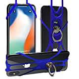 Phone Lanyard,Doormoon Rotation Strap Holder for iPhone Lanyard Detachable Neckstrap with Ring Stand Universal for Smartphone iPhone 8,7,6S Plus,Samsung Galaxy 4.0-6.5 inch (Doormoon)