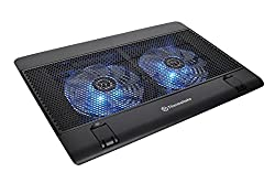 "Thermaltake Massive 14 Steel Mesh Panel Dual 140mm Blue Led Fan Adjustable Speed Control 10""-17"" Laptop Notebook Cooling Pad Cl-n001-pl14bu-a"