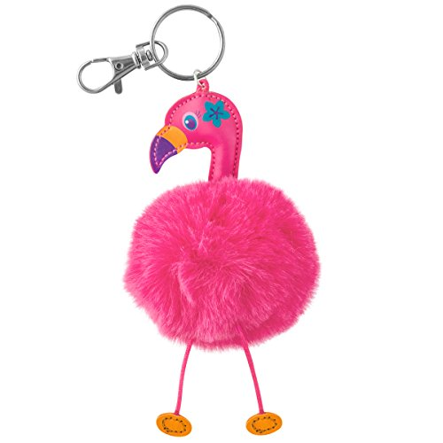 Stephen Joseph Pom Pom Critter Key Chains, (Stephen Joseph Flamingo)