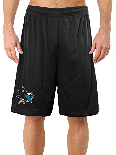 Calhoun NHL Men's Official Team Mesh Shorts (San Jose Sharks, Medium)