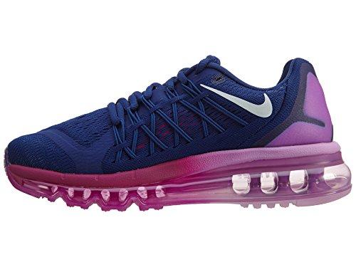 Nike Wmns Nike Air Max 2015 - Zapatos para correr para mujer DEEP ROYAL BLUE/WHITE-FUCHSIA GLOW-FUCHSIA