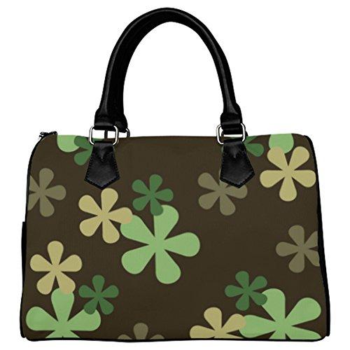 Jasonea Women Boston Handbag Top Handle Handbag Satchel Amazing Fractal Basad191942