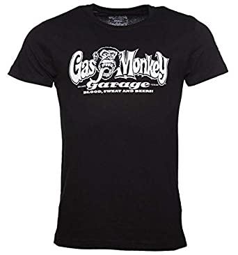 5a1e1cf2 Officially Licensed Gas Monkey Garage Blood Sweat & Beers Short Sleeved Mens  Black T-Shirt