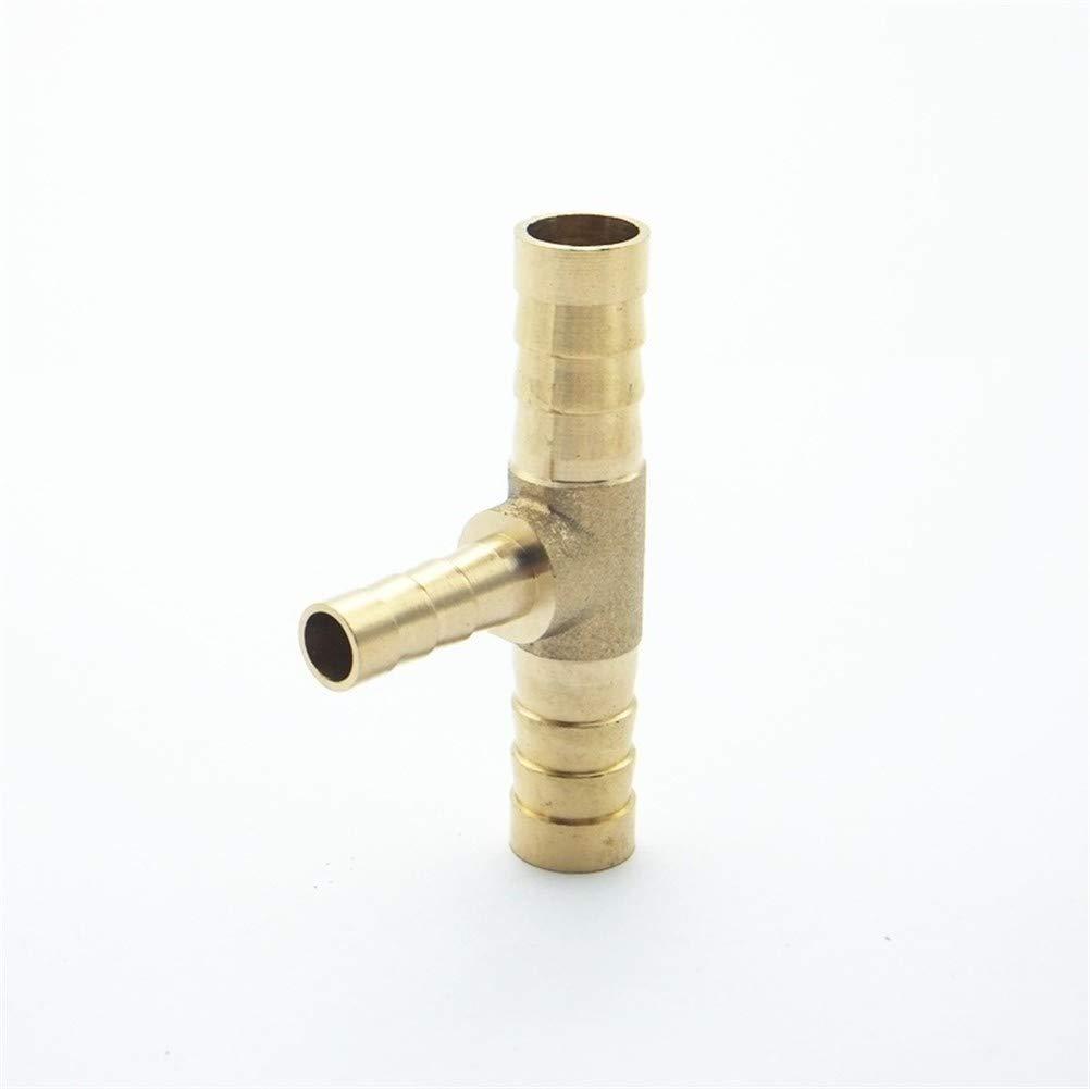 NO LOGO 1pc 4 mm 5 mm 6 mm 8 mm 10 mm 12 mm 14 mm 16 mm Tipo T La reducci/ón de lat/ón for Manguera de p/úas Tubo Tubo de Ajustar el Adaptador de Conector acoplador Reductor tama/ño : 6 4 6mm OD