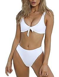 Women's Bandage Push Up Pad High Waist Thong Bikini Set Swimsuit