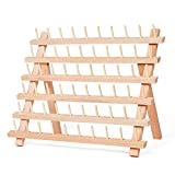 HAITRAL 60-Spool Sewing Thread Rack, Wooden Embroidery Thread Organizer for Sewing Thread Spools