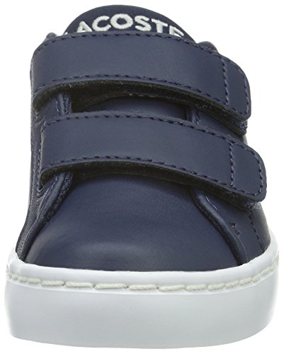 Lacoste Straightset Lace 316 1 - Zapatillas Unisex Niños Azul - Blau (NVY 003)