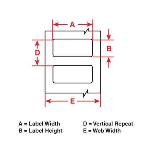 Brady THT-184-435-1 Label, Glossy Metallized Permanent Polyester (B-435), 3.000
