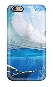 Pretty VsgiehB633GSNSb Iphone 6 Case Cover/ Four Dolphins In The Water Series High Quality Case