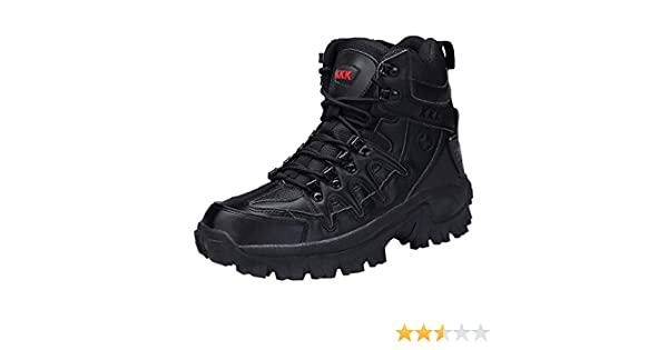 46f778e5175340 Amazon.com: Clearance Sale!Caopixx Men's Sport Army Tactical Boots Desert  Outdoor Hiking Leather Boots Combat Shoes: Clothing