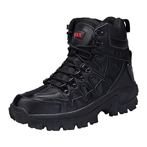 Clearance Sale!Caopixx Men's Sport Army Tactical Boots Desert Outdoor Hiking Leather Boots Combat Shoes Classic Hiking Trail Seeker