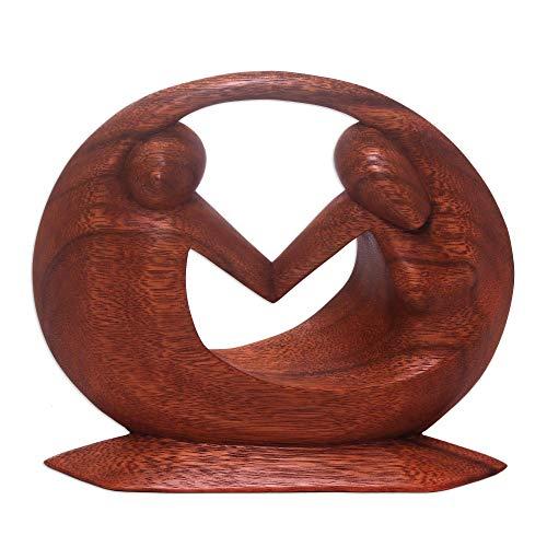 NOVICA 66798 World Peace Wood Sculpture