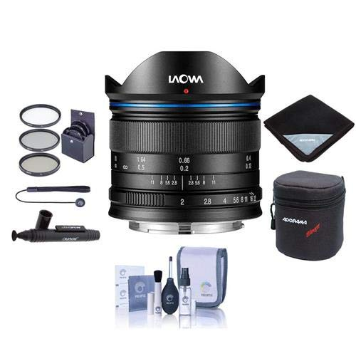 Price comparison product image Venus Laowa 7.5mm f / 2 Lens for Micro Four Thirds Mount,  Black - Bundle with 46mm Filter Kit,  Lens Case,  Cleaning Kit,  Lens Wrap,  Capleash II,  LensPen Lens Cleaner