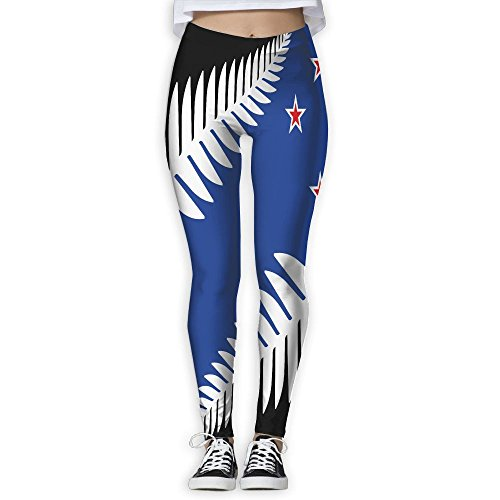 Women's Girl New Zealand Flag High Waist Casual Leggings Tights Yoga Pants Running Pants Stretchy Sport Pilates Workout Long - New Get Zealand Directions