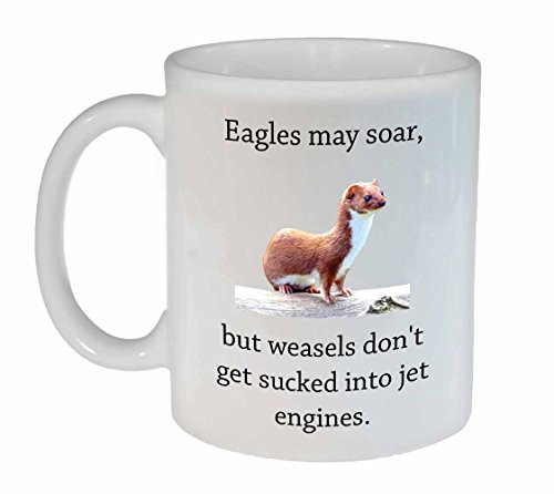 Funny Mug Quote Weasels Eagles